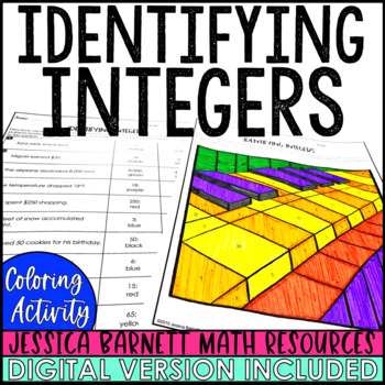 Identifying Integers Coloring Activity