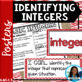 Identifying Integers Posters 6.NS.C.5