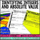 Identifying Integers and Absolute Value Lesson Bundle - Di