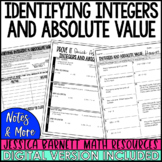 Identifying Integers and Absolute Value Notes and Such