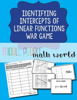 Identifying Intercepts of Linear Functions War Game