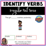 Identifying Irregular Past Tense Verbs BOOM Cards distance