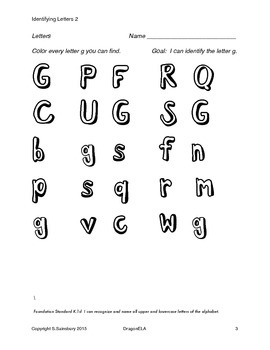 Identifying Letters 2