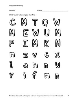 Identifying Letters S, M, A, T, C, P, N, B