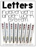 Identifying Letters- Binder Basics Work System