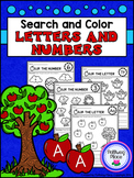 Identifying Letters and Numbers - Search and Color Activity