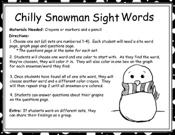 Identifying Letters and Sight Words