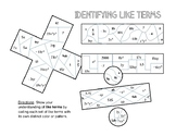 Identifying Like Terms Coloring Sheet