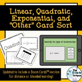 Identifying Linear, Quadratic, and Exponential Relationships - Card Sort