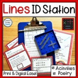 Identifying Lines Geometry Task Cards and Activities