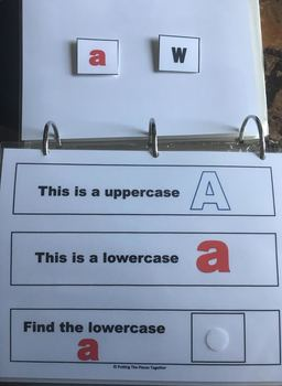 Identifying Lowercase Letters Binder
