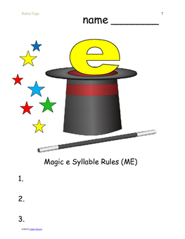 Identifying Magic E Syllables