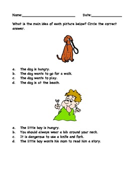 Identifying Main Idea with Picture Clues