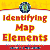 Identifying Map Elements - Activity - NOTEBOOK Gr. 6-8