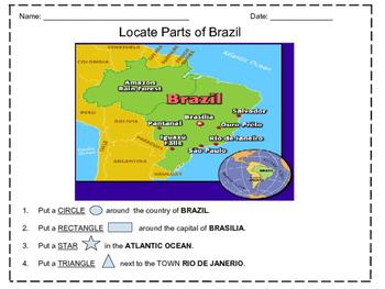 Identifying Map of Brazil
