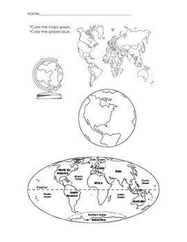 Identifying Maps and Globes