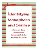 Identifying Metaphors and Similes (Common Core)