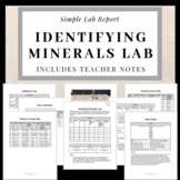 Identifying Minerals Lab Report