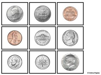 Identifying Money Task Cards (for SpEd)