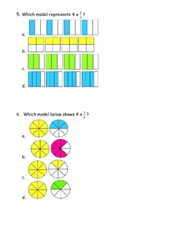 Identifying Multiplication of Fractions and Whole Numbers with Models