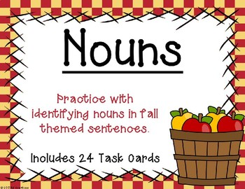 Identifying Nouns {Autumn Theme}