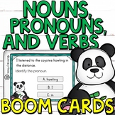 Identifying Nouns, Pronouns, and Verbs Boom Cards (Digital