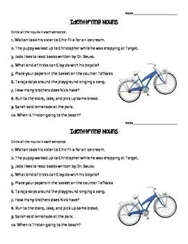 Identifying Nouns Quick Check