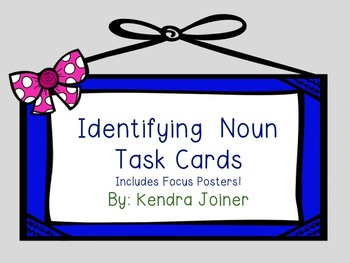 Noun Task Card Set