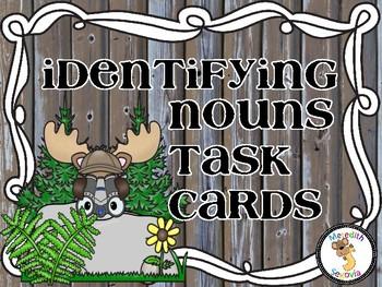 Identifying Nouns Task Cards