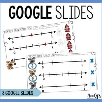 Identifying Number Line Fractions Digital Mini Bundle