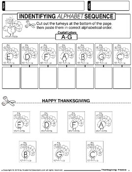 FREE -November NO PREP Math and Literacy Packet Thanksgiving (Primary Grades)