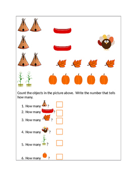 Identifying Number Values-Thanksgiving Theme