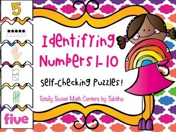 Identifying Numbers 1-10 Self Checking Puzzles