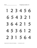 Identifying Numbers 1-6