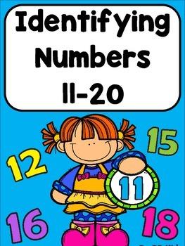 Identifying Numbers 11-20 / Kindergarten/ Math Worksheets by BB Kidz