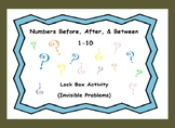 Identifying Numbers Before, After, & Between Numbers (1-10)-Lock Box Escape Room