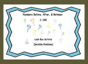 Identifying Numbers Before, After, & Between Numbers (1-100)Lock Box Escape Room