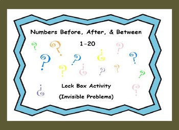 Identifying Numbers Before, After, & Between Numbers (1-20)-Lock Box Escape Room