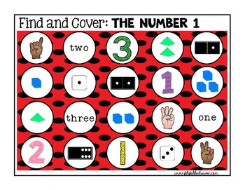 Identifying Numbers: Identifying Numbers Find and Cover Ac