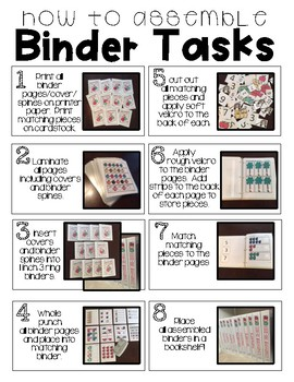 Identifying Numbers- Binder Basics Work System