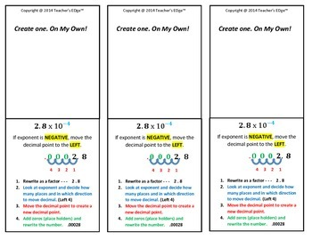Identifying Numbers in Scientific Notation & Writing in Standard Form