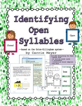 Identifying Open Syllables
