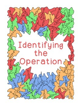 Identifying Operations Coloring Mental Math PDF Printable Basic Operations