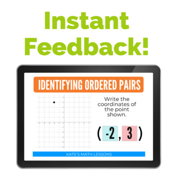 Identifying Ordered Pairs Boom Cards and Task Cards