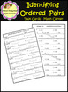 Identifying Ordered Pairs - Task Cards - Coordinate Plane (School Designhcf)