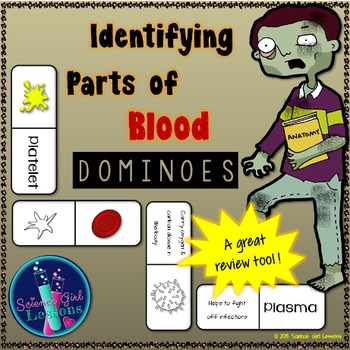 Identifying Parts of Blood Dominoes {A Matching Game}