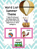 Identifying Parts of Speech: Nouns, Verbs and Adjectives - Summer Theme