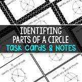 Identifying Parts of a Circle (Secant/Tangent/Chord)Task Cards&Folding Organizer