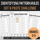 Identifying Pattern Rules in Growing and Shrinking Number Patterns - Worksheets