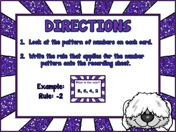 Number Patterns - What is the Rule?